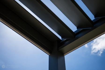 Outdoor Living Pod with sleek integral guttering - ABS Blinds Tenterden